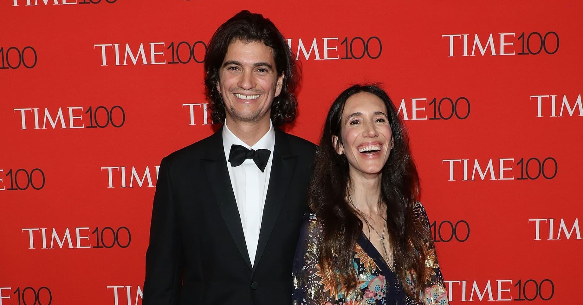 WeWork CEO Adam Neumann with wife and founding partner Rebekah Neumann.