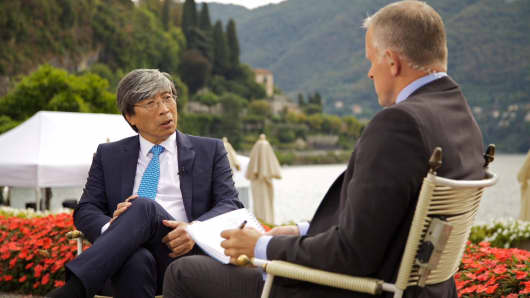The new owner of the LA Times, Patrick Soon-Shiong, sits down with CNBC's Steve Sedgwick at the Ambrosetti Forum in Italy on Friday 7th September, 2018.