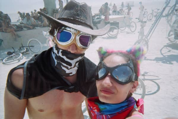 Breza and Agustini attended Burning Man in 2017