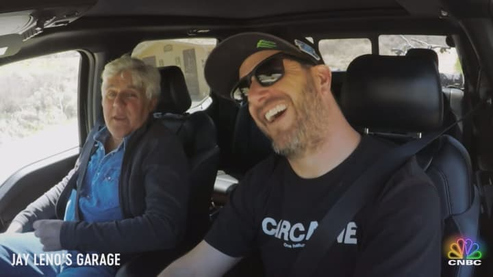 b0fcd0c6d6c Jay Leno and Ken Block prepare for a mountain bike adventure