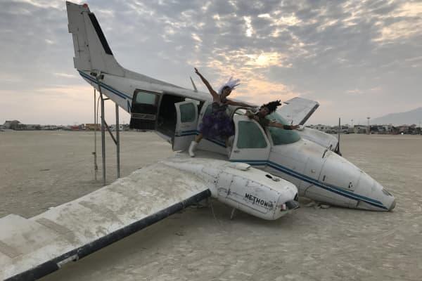 Breza and Agustini at Burning Man