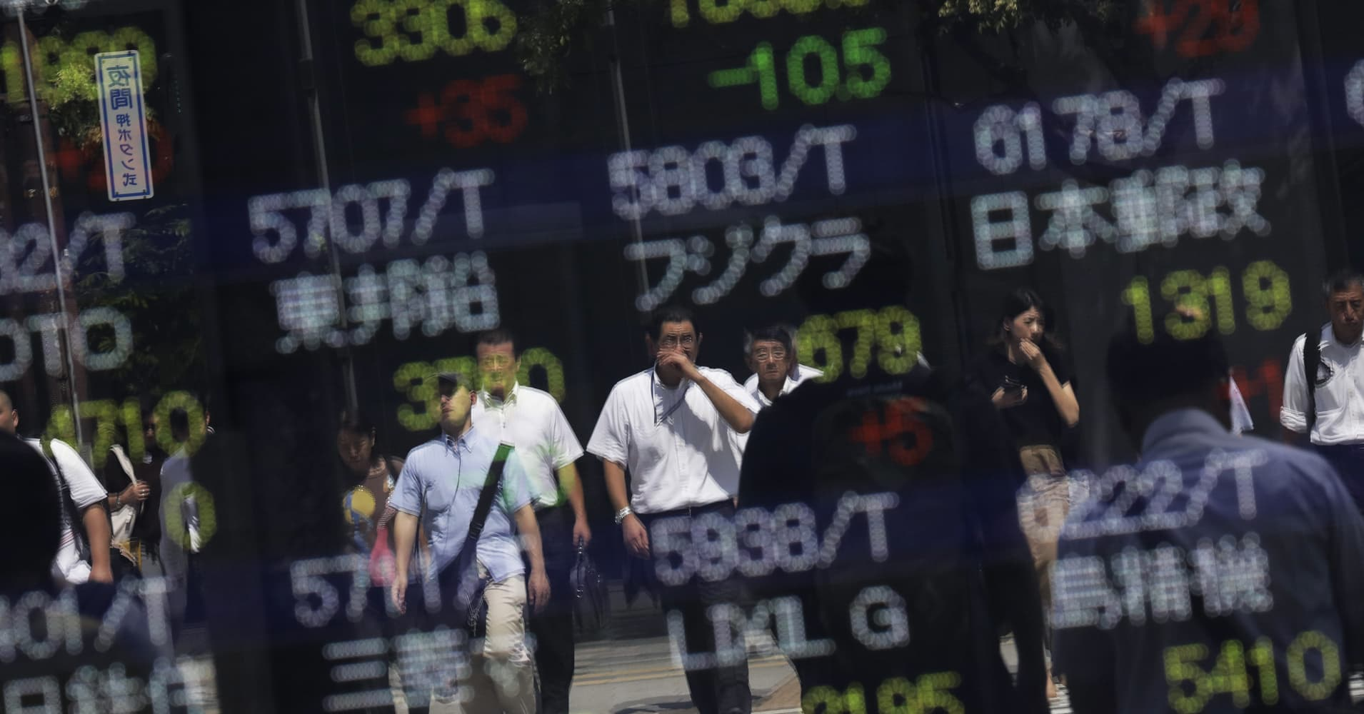 Asian stocks fall after day of declines on Wall Street