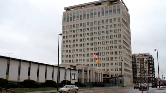 Kiewit Plaza, Berkshire Hathaway headquarters, in Omaha, Nebraska.