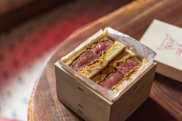 Don Wagyu's $180 steak sandwich
