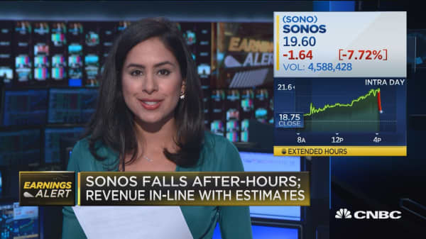 Sonos plunges after first earnings report as public company