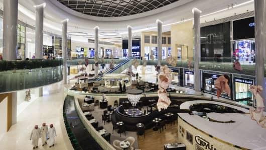 UAE, Abu Dhabi, Yas Island, Yas Mall, interior, opened in 2015