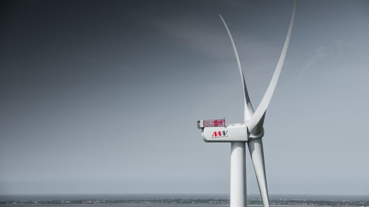 The project will use the MHI Vestas V164-9.5 MW wind turbine, pictured above.