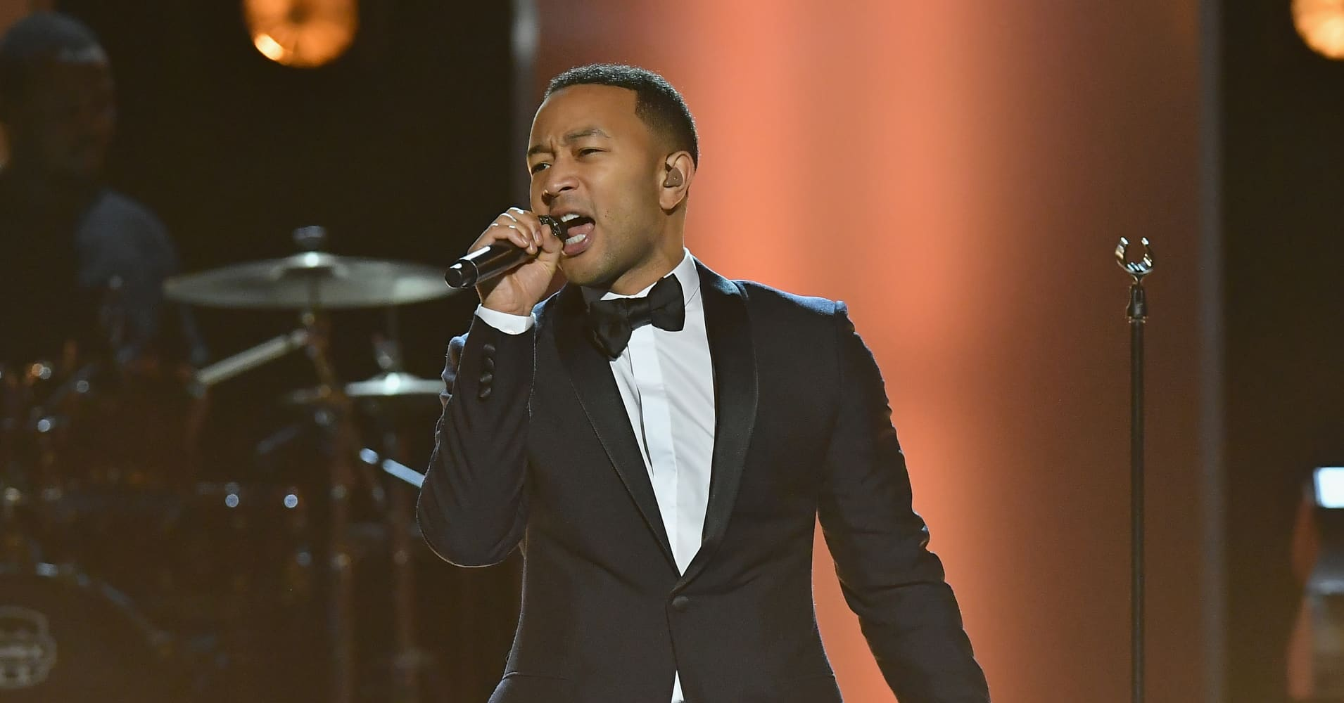 Singer John Legend performs onstage at the 48th NAACP Image Awards on February 11, 2017.