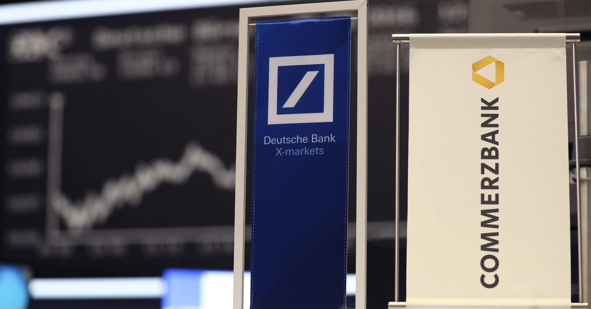 European markets edge higher; shares of Deutsche Bank and Commerzbank jump 4% amid merger talks