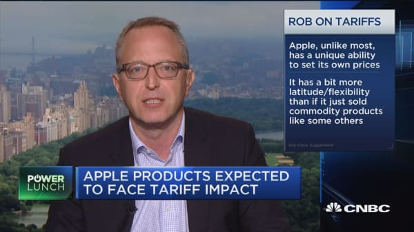 Apple has more flexiblity to pass along higher costs to consumers, says Guggenheim Partners' Cihra
