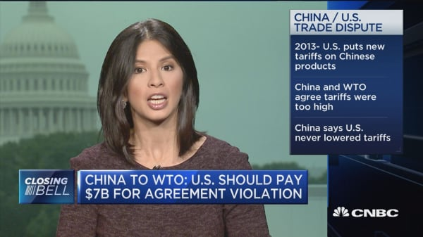 China to WTO: US should pay $7 billion for agreement violation