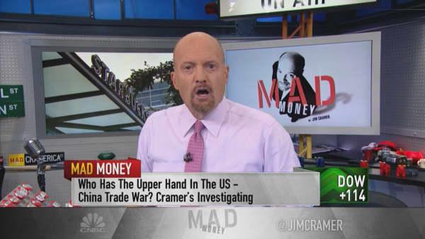 Cramer: Stocks heavily tied to China may be signaling an end to the trade war