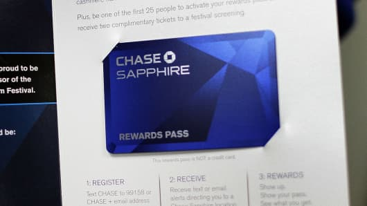 A promotion for the Chase Sapphire credit card in Park City, Utah.