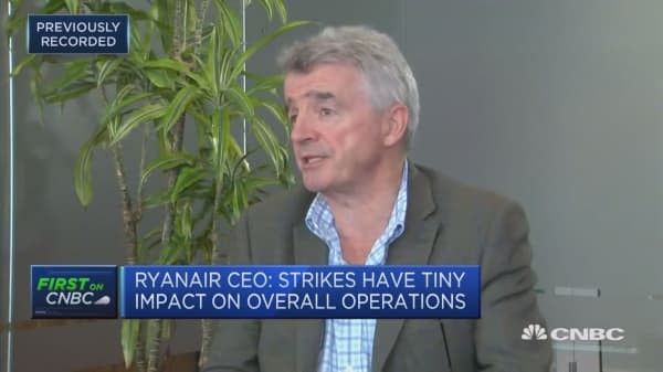 Strikes an 'inevitable' problem, Ryanair CEO says
