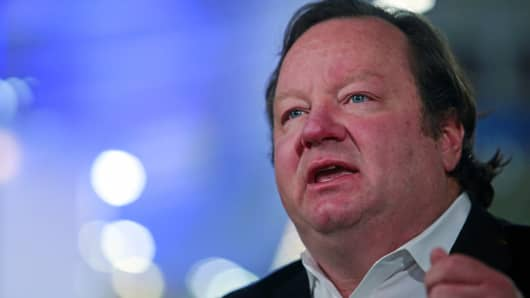 Robert Bakish, chief executive officer of Viacom International Media Networks, speaks during a Bloomberg Television interview at the Mobile World Congress in Barcelona, Spain, on Tuesday, March 3, 2015. The event, which generates several hundred million euros in revenue for the city of Barcelona each year, also means the world for a week turns its attention back to Europe for the latest in technology, despite a lagging ecosystem.