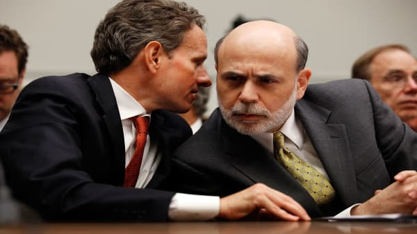 Bernanke, Geithner, Paulson reflect on the moment the financial crisis hit