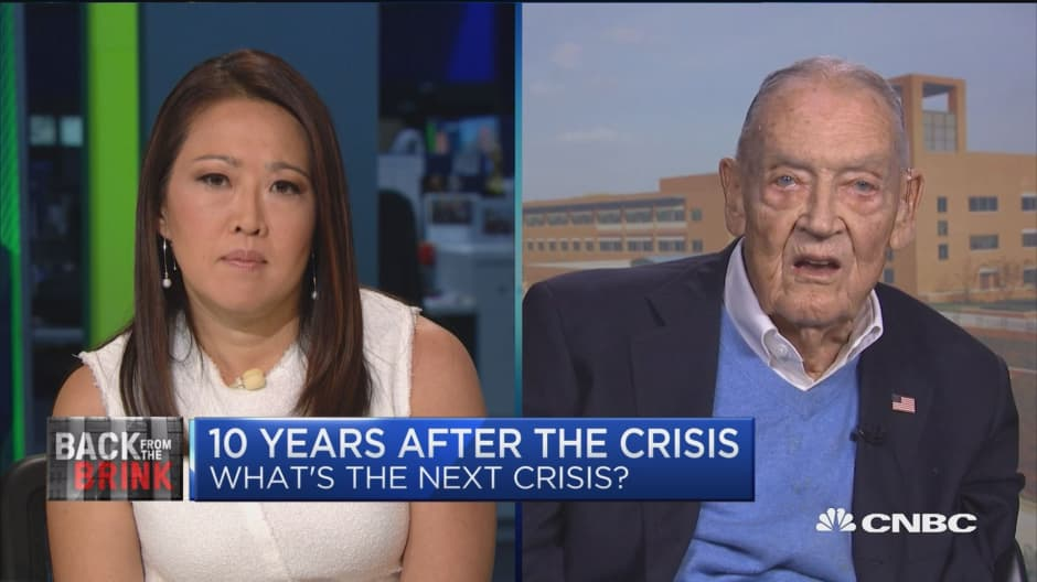 There's a lot of signs of exposure in the market, but nothing for me to get out, says Jack Bogle