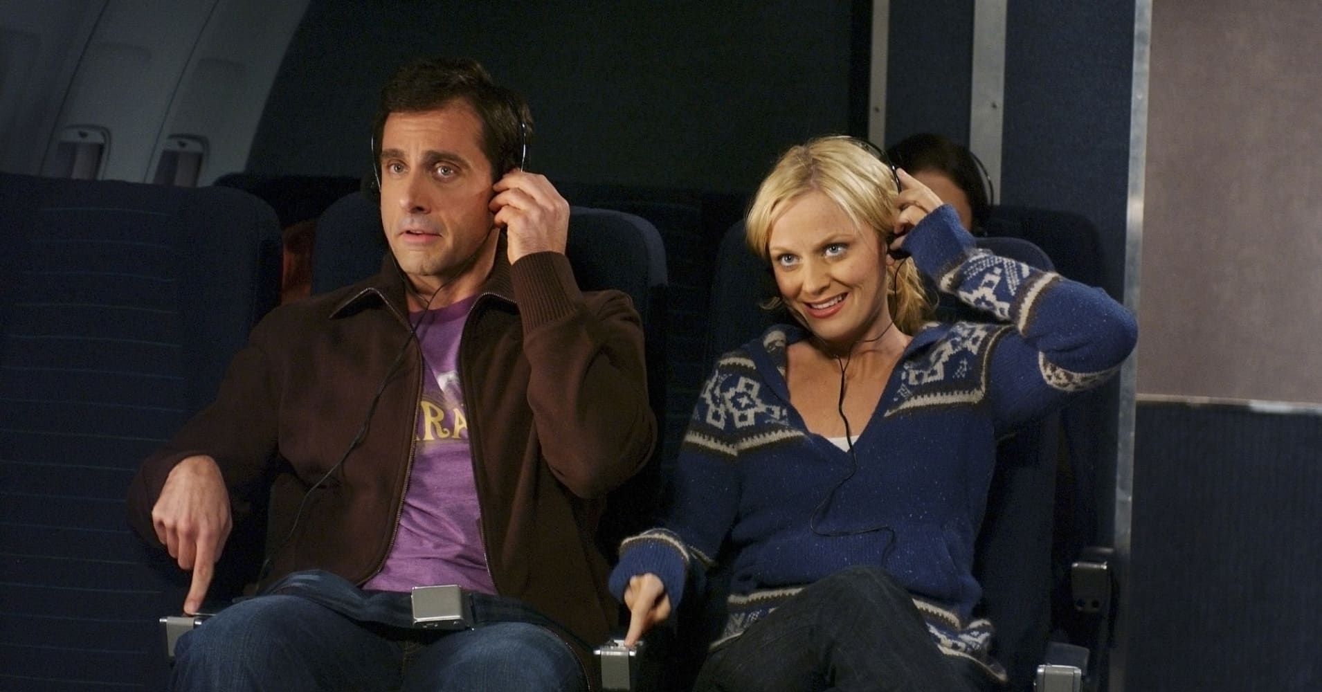 Steve Carell and Amy Poehler in a SNL skit in 2005.