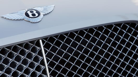 A Bentley car is pictured outside the Be