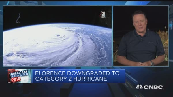 Hurricane Florence weakens to a category 2 storm