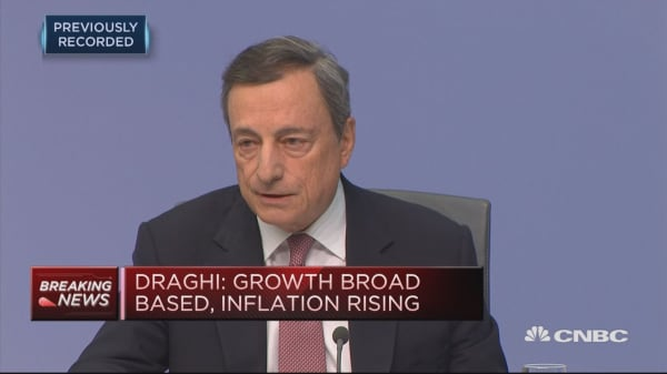 Risks surrounding EU growth outlook still assessed as 'broadly balanced': Draghi