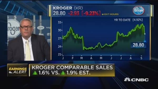 Kroger CFO on earnings beat, comp sales miss