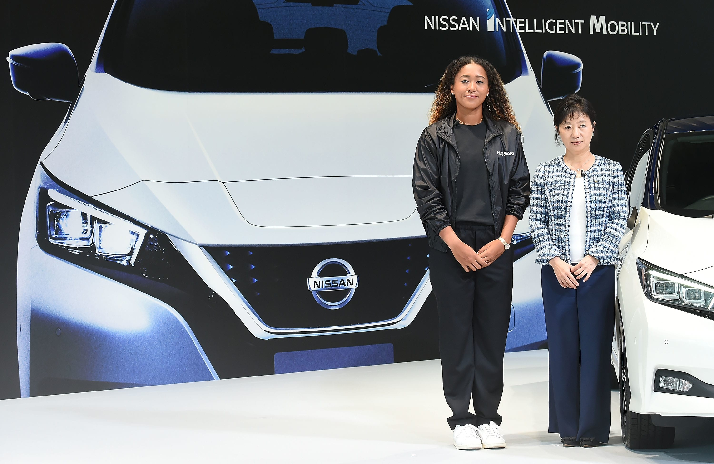 Naomi Osaka attends the press conference at Nissan Global Headquarters on September 13, 2018 in Yokohama, Japan.
