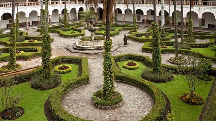 Garden cloister in Quito, Ecuador.