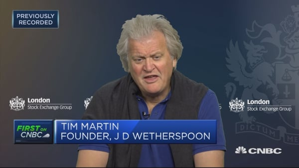 JD Wetherspoon founder: We believe the country would be better with no deal