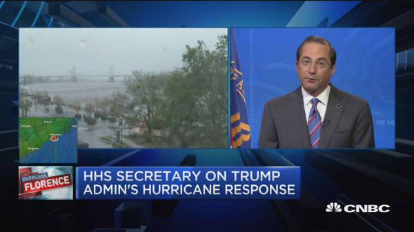 HHS Sec. Azar on Florence preps and e-cig epidemic