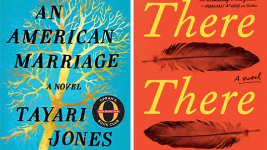 """Tayari Jones' """"An American Marriage"""" and Tommy Orange's """"There, There,"""" two of the year's most talked-about novels, are on the fiction longlist for the National Book Awards."""