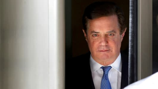 Former Trump campaign manager Paul Manafort departs from U.S. District Court in Washington, U.S., February 28, 2018.