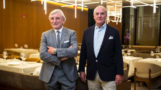 Julian Niccolini, left, and Alex von Bidder at the new Four Seasons in New York.