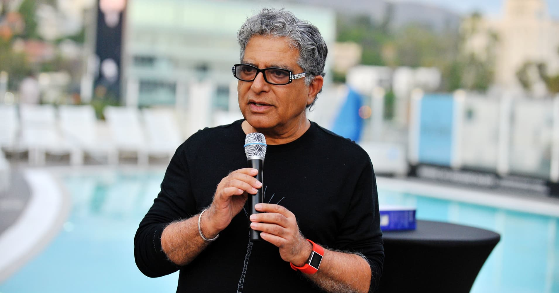 Dr. Deepak Chopra attends WORLDZ Cultural Marketing Summit.