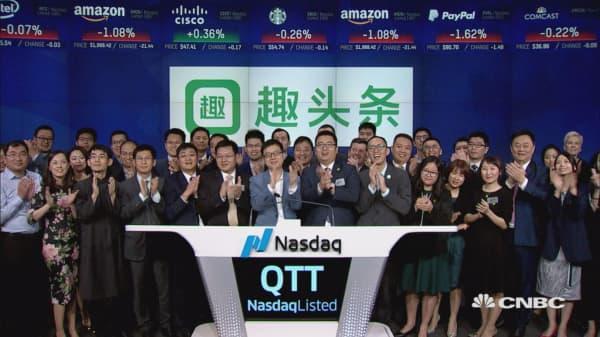 Qutoutiao celebrates IPO by ringing closing bell at Nasdaq MarketSite