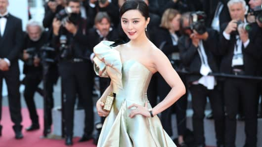 Actress Fan Bingbing attends the screening of 'Ash Is Purest White (Jiang Hu Er Nv)' during the 71st annual Cannes Film Festival in Cannes, France.