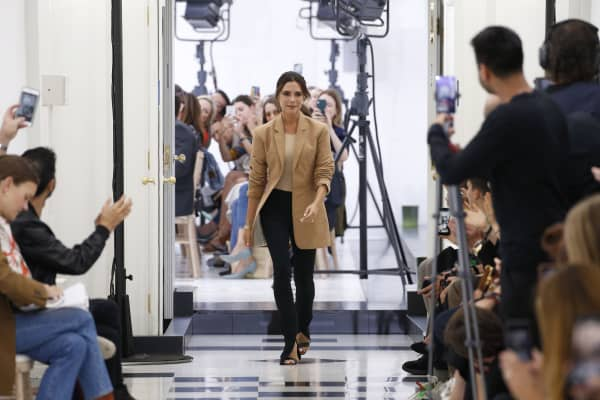 Victoria Beckham at the Victoria Beckham show during London Fashion Week September 2018