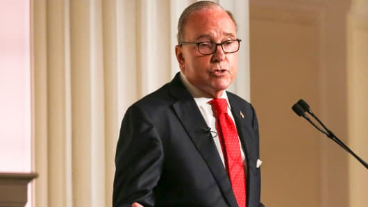 Larry Kudlow, Director of the National Economic Council, speaking at the New York Economic Club in New York on Sept. 17th, 2018.
