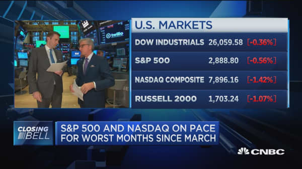 US stocks finish lower on trade fears