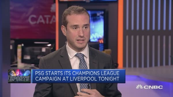 Paris Saint-Germain faces Liverpool in Champions League group stage