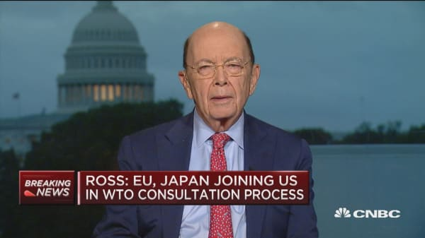 Ross: EU, Japan has joined us for WTO consultation process