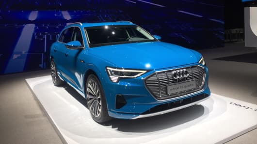 The new Audi E-Tron unveiled.