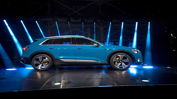 Audi unveils all-electric vehicle E-tron which could kill Tesla