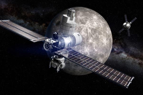 An artist rendering of the deep space habitat Boeing is building.