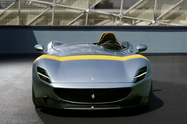 The Ferrari Monza SP1 which was unveiled on September 18, 2018.