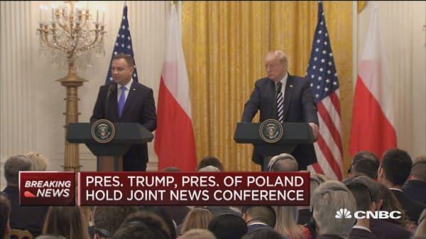 Trump: I feel President Duda is right on Russia