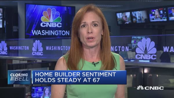 Home builder sentiment holds steady at 67