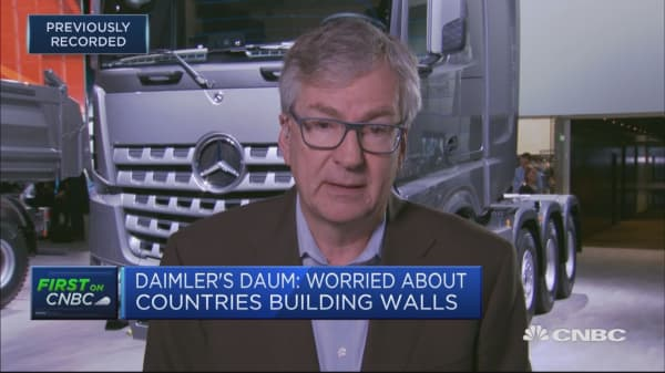 Daimler board member: Depend on free exchange of goods, ideas and people