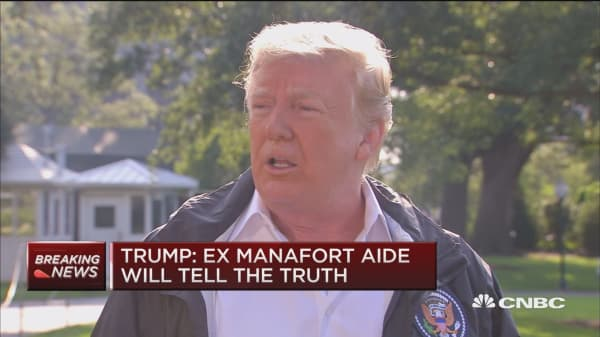 Trump: As long as Manafort tells the truth, it's 100 percent