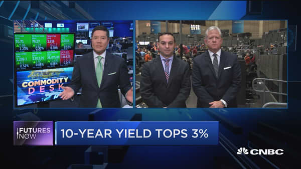 Futures Now: 10-year yield tops 3 percent